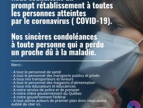 Témoignages Coronavirus